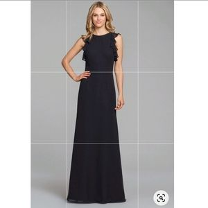 Hayley Paige occasions 5863 ruffle top maxi dress